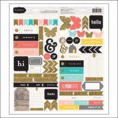 Pebbles Phrase and Accent Stickers Hand-Made Collection by Jen Hadfield