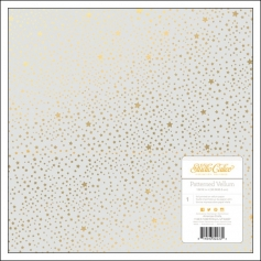 Studio Calico Vellum Paper Foil Gold Stars Brighton Pier Collection