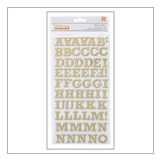 Studio Calico Thicker Stickers Chipboard Gold Foil Buckeroo Brighton Pier Collection