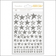 Studio Calico Rub Ons Silver Stars Brighton Pier Collection