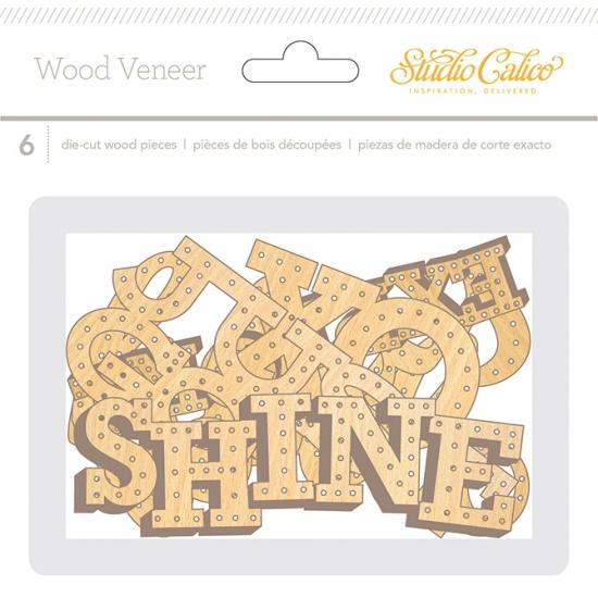 Studio Calico Wood Veneer Words Brighton Pier Collection