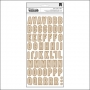 Crate Paper Thicker Stickers Kraft and White Chipboard Index Notes and Things Collection