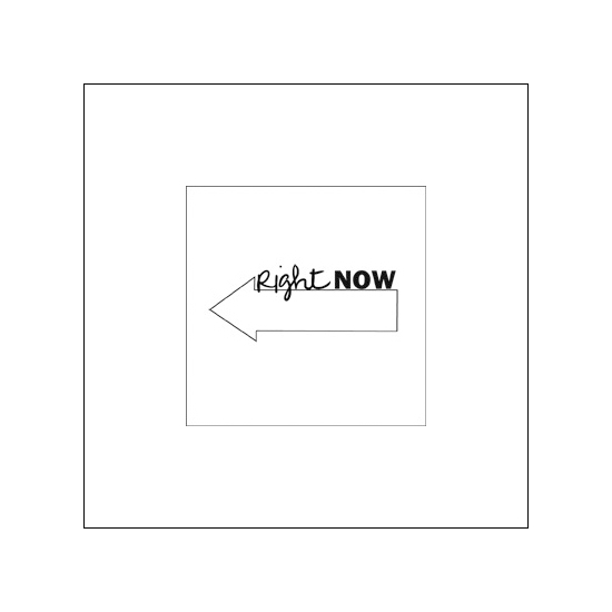 Evalicious Cling Stamp Right Now Arrow