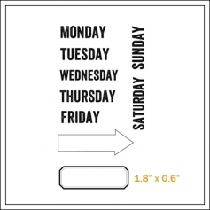 Evalicious Cling Stamp Set Days Of The Week