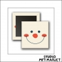 Scrapbook and More Square Badge Button Snowman by Studio Met Marjet
