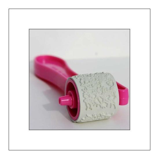 Glitz Design Pink Giant Roller Doodle Crackle