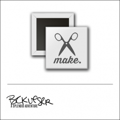 Scrapbook and More Square Flair Badge Button White Make by Beshka Kueser