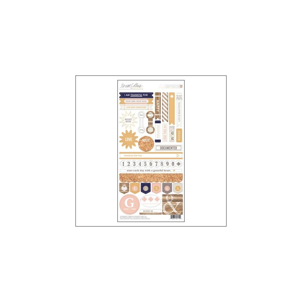 Teresa Collins Decorative Sticker Sheet Life Emporium Collection