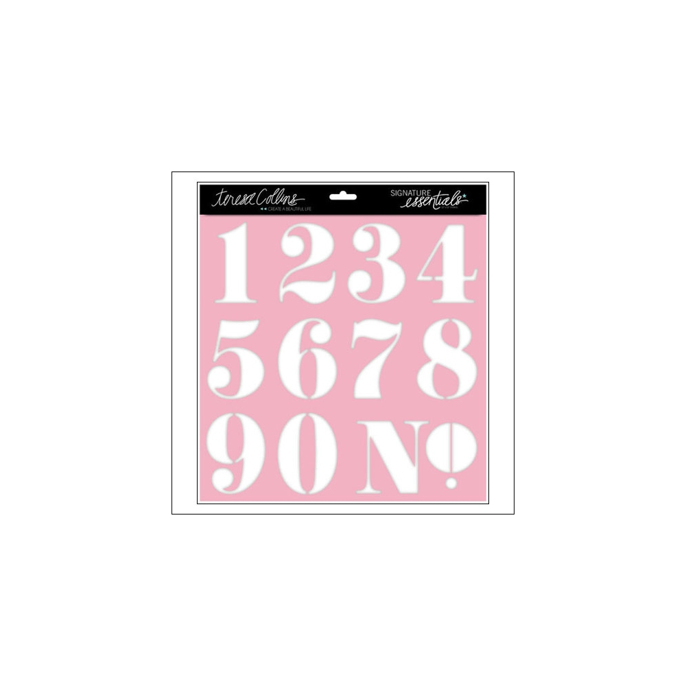 Teresa Collins Stencil Numbers Signature Essentials Collection