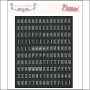 Teresa Collins Black Cardstock Alphabet Stickers Basically Essentials Collection