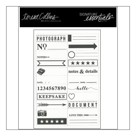 Teresa Collins Journaling Tidbits Cardstock Stickers Signature Essentials Collection
