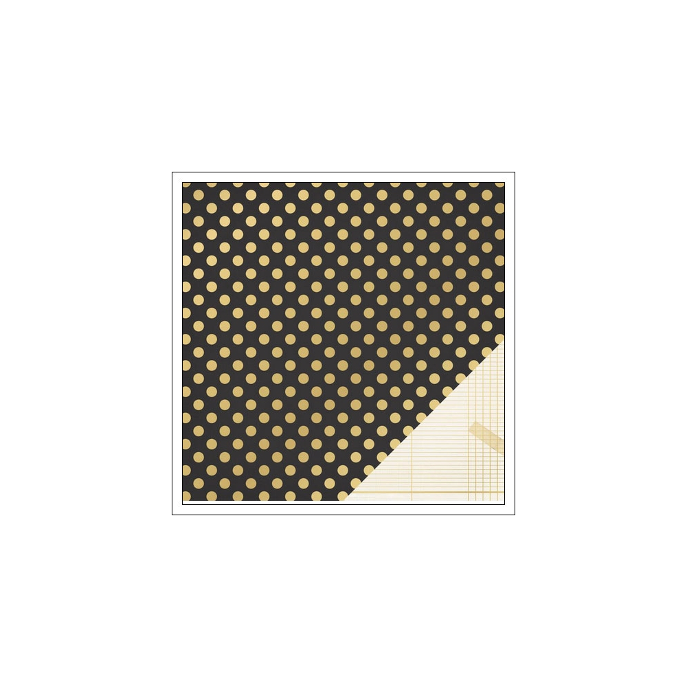 Crate Paper Paper Black Gold Foil Dot Open Book Collection by Maggie Holmes
