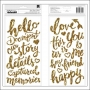 Crate Paper Thicker Phrase Stickers Glitter Foam Gold Story Open Book Collection by Maggie Holmes