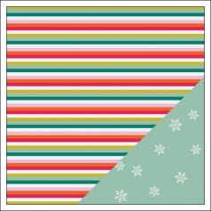 Gossamer Blue Paper Sheet Merry Merry Get Happy Collection by Allison Pennington