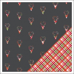 Gossamer Blue Paper Sheet Reindeer Games Get Happy Collection by Allison Pennington