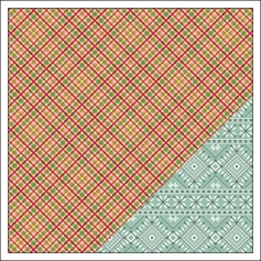 Gossamer Blue Paper Sheet Plaid Tidings Get Happy Collection by Allison Pennington