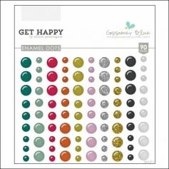 Gossamer Blue Enamel Dots Get Happy Collection by Allison Pennington