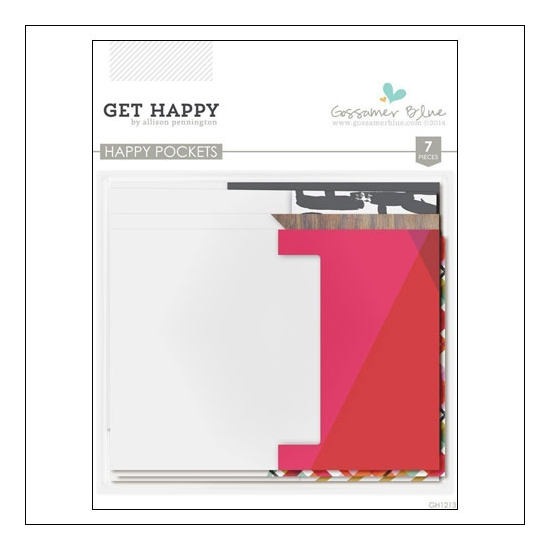Gossamer Blue Happy Pockets Get Happy Collection by Allison Pennington