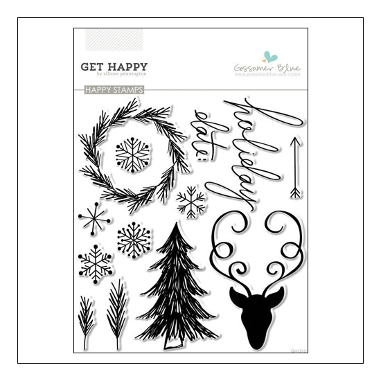 Gossamer Blue Happy Clear Stamps Get Happy Collection by Allison Pennington