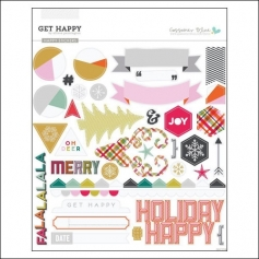 Gossamer Blue Happy Cardstock Stickers Get Happy Collection by Allison Pennington