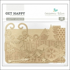 Gossamer Blue Happy Wood Veneer Get Happy Collection by Allison Pennington