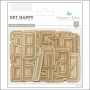 Gossamer Blue Wood Veneer Numbers Get Happy Collection by Allison Pennington