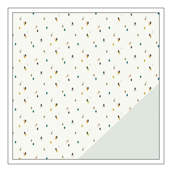 Gossamer Blue Paper Sheet The Third Ward Gramercy Road Collection by One Little Bird