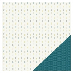 Gossamer Blue Paper Sheet McKinley Field Gramercy Road Collection by One Little Bird