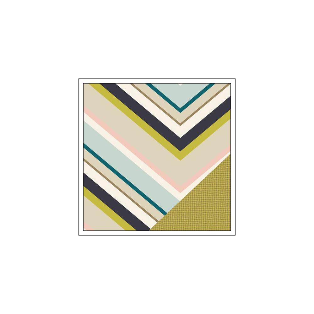 Gossamer Blue Paper Sheet West Seventh Gramercy Road Collection by One Little Bird