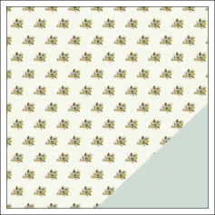 Gossamer Blue Paper Sheet Sheridan Place Gramercy Road Collection by One Little Bird