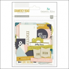 Gossamer Blue Die Cut Ephemera Gramercy Road Collection by One Little Bird