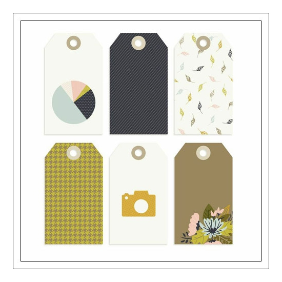 Gossamer Blue Cardstock Die Cut Tags Gramercy Road Collection by One Little Bird