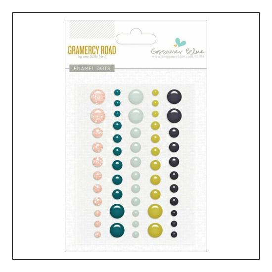 Gossamer Blue Enamel Dots Gramercy Road Collection by One Little Bird