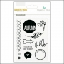 Gossamer Blue Clear Stamp Set Gramercy Road Collection by One Little Bird