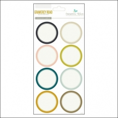 Gossamer Blue Round Label Stickers Gramercy Road Collection by One Little Bird
