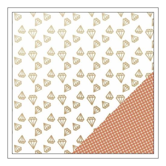 Gossamer Blue Paper Sheet You Are A Gem Gold Specialty On My Desk Collection by Paislee Press