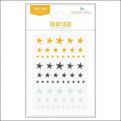 Gossamer Blue Enamel Stars On My Desk Collection by Paislee Press
