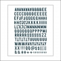 Evalicious Hello Navy Puffy Alphabet Stickers