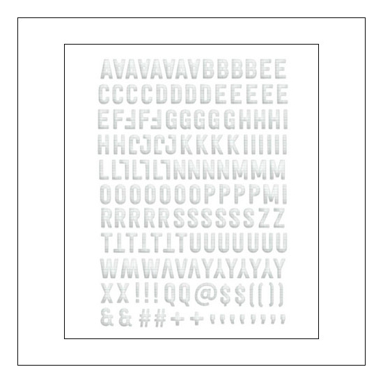Evalicious Ledger Paper Puffy Alphabet Stickers