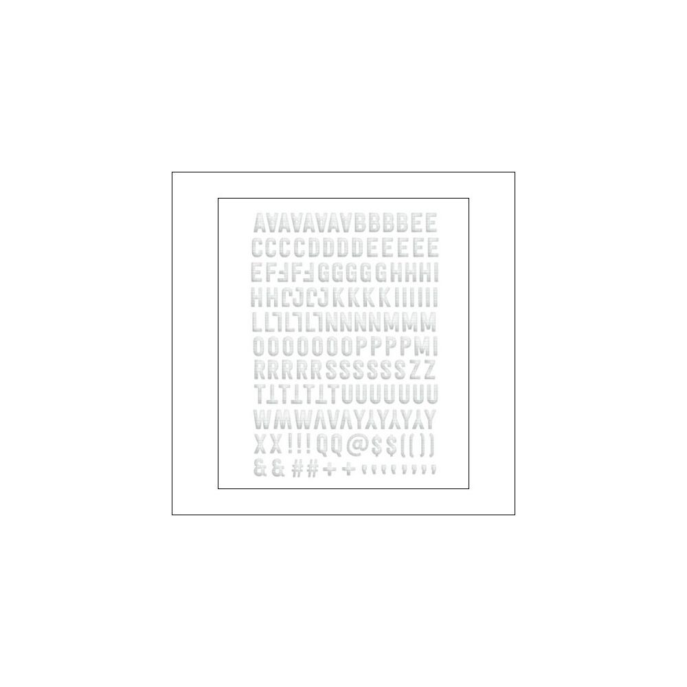 Evalicious Ledger Paper Puffy Alphabet Stickers