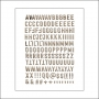 Evalicious Woodgrain Puffy Alphabet Stickers