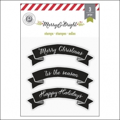Pink Paislee Clear Stamp Set Merry and Bright Collection