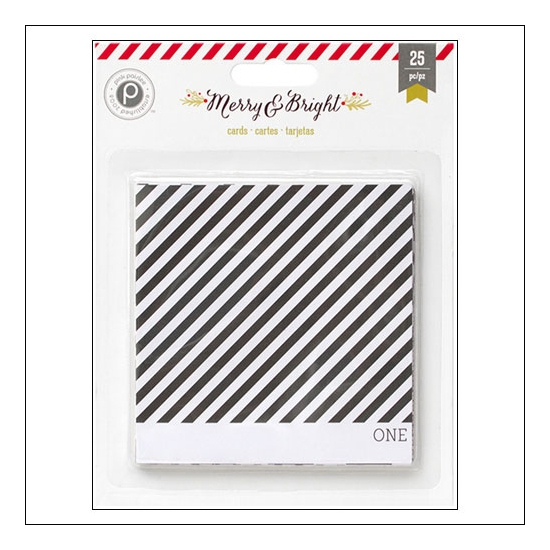 Pink Paislee Countdown Cards 4x4 Merry and Bright Collection