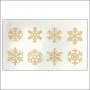 American Crafts Bits Wood Veneer Snowflakes Be Merry Collection