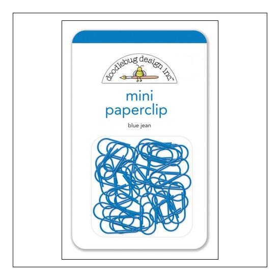 Doodlebug Mini Metal Paperclip Blue Jean