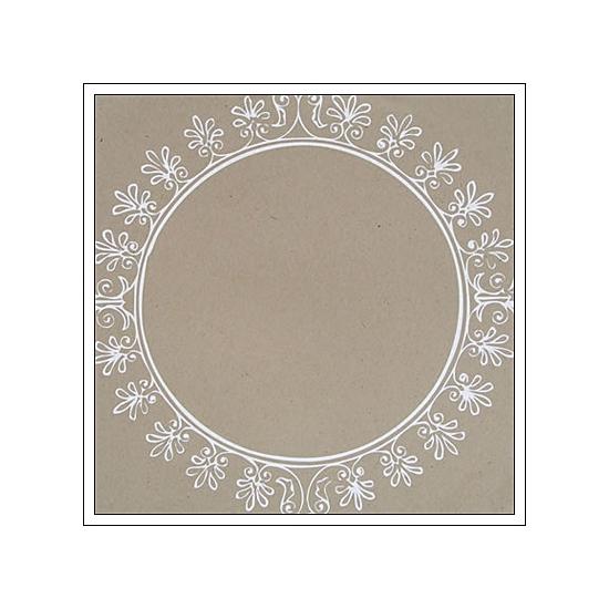 Hambly Screen Prints Kraft Paper Big Vintage Circle White