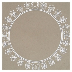 Hambly Screen Prints Kraft Paper Big Vintage Circle White