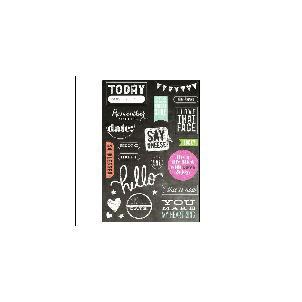 Me and My Big Ideas Sticks Today Chalkboard Stickers