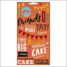Me and My Big Ideas Sticks Clear Stickers Birthday