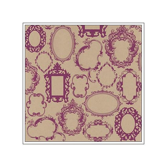 Hambly Screen Prints Kraft Paper Frame Wallpaper Magenta